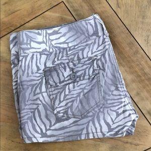 Express zebra print shorts